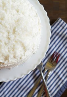 Nana McKee's Chocolate Cake (with fluffy coconut frosting)