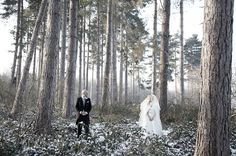 real wedding:a glamorous black & white winter wonderland {victoria & james}