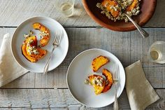 Caramelized Butternut Squash Wedges With A Sage Hazelnut Pesto Recipes ...