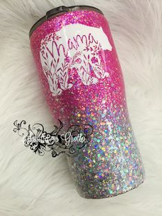 Bear Full Chunky Glitter HOGG Stainless Steel Tumbler Excited to share this item from my shop: Mama Bear Full Chunky Glitter HOGG Stainless Steel TumblerExcited to share this item from my shop: Mama Bear Full Chunky Glitter HOGG Stainless Steel Tumbler Vinyl Tumblers, Personalized Tumblers, Custom Tumblers, Glitter Cups, Pink Glitter, Glitter Tumblers, Mom Tumbler, Tumbler Cups, Little Gifts