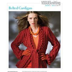 BELTED CARDIGAN Knitting Pattern