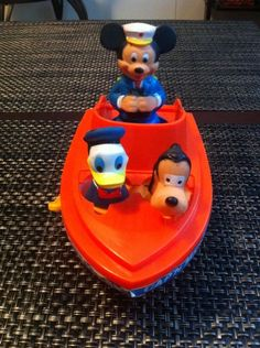 "Illco ""Disney"" Cap'n Mickey wind-up toy boat"