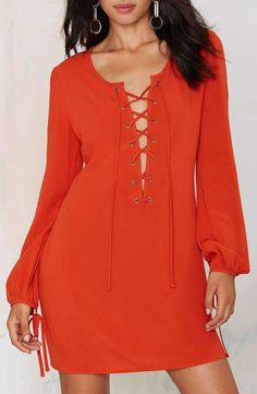 70's Inspired After Party Vintage Dress in Rust - A pretty camisole would set it off!