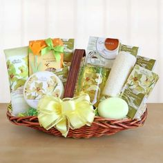Our Elegant Orchid Spa Sensation Gift Basket.