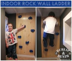 DIY Indoor Rock Climbing Ladder