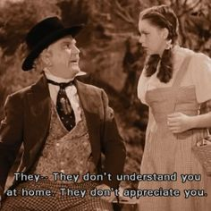 *PROFESSOR MARVEL & DOROTHY GALE ~ The Wizard of Oz, 1939