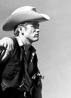 """James Dean in character from the movie """"Giant"""" also starring Elizabeth Taylor and Rock Hudson. Anthony Perkins, Jean Seberg, Joanne Woodward, Jane Russell, Christina Ricci, Christina Hendricks, Elizabeth Taylor, Steve Mcqueen, Jean Harlow"""