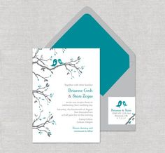 gray and teal wedding