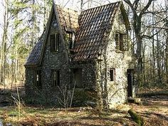 fairy tale stone cottage by erma