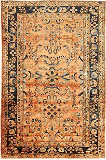 Antique Lilihan carpet - Armenians wove Lilihans in Lilihan village in what used to be called Kamareh (now Khomeyn) district in Iran.