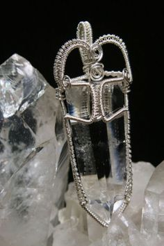 Beautiful & Powerful Wire Wrapped Quartz Crystal Jewelry. Love the weaved wire!
