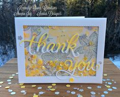 Scripty Thank You Card | by Joy's Studio Creations | Beautiful Blossoms stamp set by Newton's Nook Designs