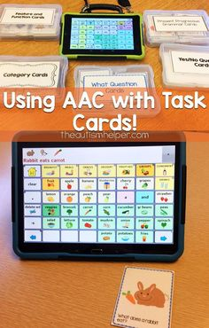 Using AAC with Task Cards! - The Autism Helper