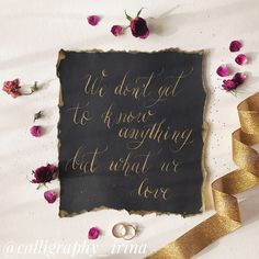 The wedding details.  Calligraphy.