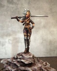 Viktoria of Ashes, on putty and paint. Malifaux