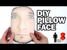 DIY Pillow Face - Man Vs. Pin #9 - YouTube (the face is creepy, but i bet a cat with sewn on ears would be really cute! And customized!)
