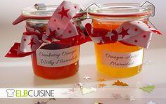 Jetzt, wo es wieder knackig kalt wird sind wärmende Geschenke wie die Orangen-Aperol und Cranberry-Orangen-Whiskey Marmelade die perfekten Begleiter.