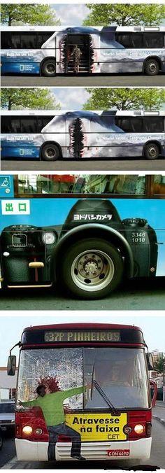 creative bus advertisements