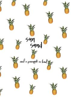 sun, sand and a pineapple in hand