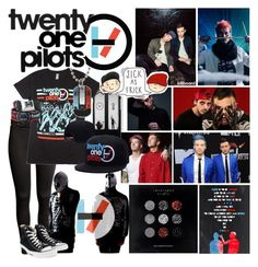 """Twenty-One Pilots"" by crystal0248 ❤ liked on Polyvore featuring H&M, Samsung and Converse"