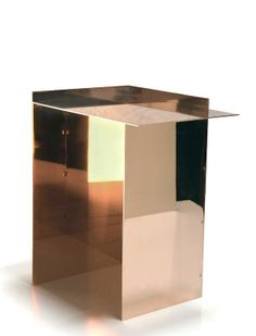 Copper Side Table by Richard Ostell.