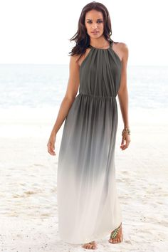 Grey Ombre Maxi Dress - it's like she's floating on air