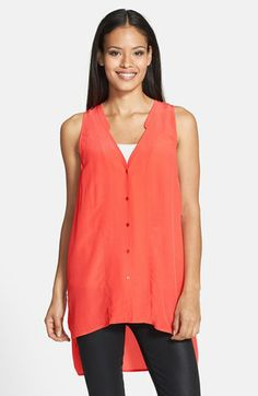 loving this sleeveless top - great color