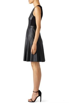 Black Vegan Leather Dress by Rebecca Taylor