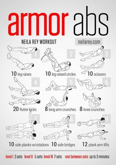 Armor Abs Workout / works:lower abs, front hip flexors, lateral abs, quads…