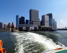 Staten Island Ferry leaving Whitehall Terminal, South Ferry, Manhattan, New York City