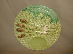 Vintage Portuguese MAJOLICA ASPARAGUS PLATE by PastPossessionsOnly, $24.95