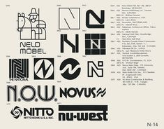 N-14  Collection of vintage logos from a mid-70's edition of the book World of Logotypes.