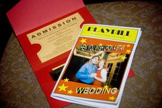 DIY Playbill and invite for the wedding