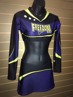 Thanks for the support from the locals, Freedom Cheer here in Saskatoon, created their own custom design for their uniform. Good Luck this season Freedom :)