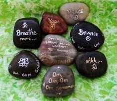 Magickal Ritual Sacred Tools:  Meditation stones.