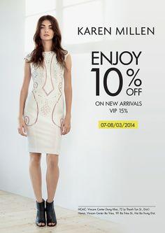 Khuyến mãi Karen Millen - Giảm 10% cho sản phẩm mới   ghienkhuyenmai