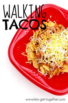 Walking Tacos from Let's Get Together - part of a full (easy!) dinner menu for #camping - 5 ingredients for this one #recipe www.lets-get-together.com
