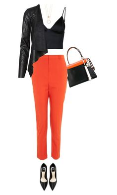 """Orange Pop"" by southindianmakeup1990 ❤ liked on Polyvore featuring Tod's, Topshop, T By Alexander Wang, Kate Spade, fashionset and polyvoreeditorial"