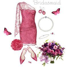 ~Bridesmaid~ Pink ~ by justwanderingon on Polyvore featuring Emilio Pucci, Nine West, La Regale, Bulgari, Ippolita, Blue Nile and QVC