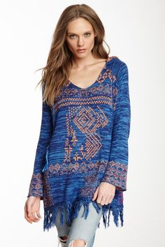 Hooded Fringe Sweater by Love Stitch on @HauteLook