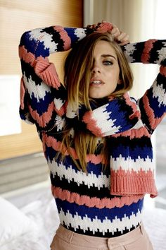 """She's one of the most influential blogger around the world.  Mentioned by New York Magazine as """"One of the biggest breakout street-style star of the Year, the Italian fashion icon #ChiaraFerragni from """"The Blonde Salad"""" strikes a pose in New York with our FW13/14 #Peuterey Aiguille Noire total look designed by CO