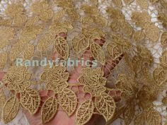 Hey, I found this really awesome Etsy listing at https://www.etsy.com/listing/168467502/gold-dress-lace-fabrics-120cm-wide-bride