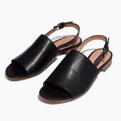 The Noelle Slingback Sandal in Leather : flats | Madewell