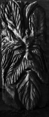 Greenman carving