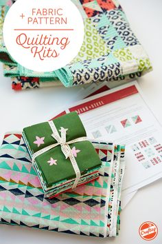 Get everything for your next quilting project, all in one! Browse a broad variety of designs dreamed up by your favorite quilters, and choose the kit you love to receive a pattern plus perfectly paired fabric.