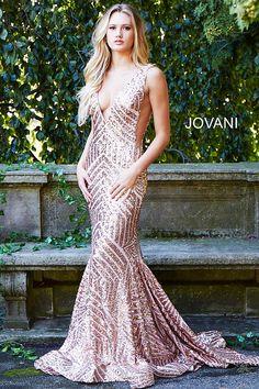 b5d38b415180 jovani 59762 ROSEGOLD Mermaid Gown, Chiffon Gown, Fitted Prom Dresses, Prom  Dresses Jovani