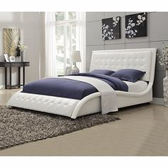 Coaster Home Furnishings 300372Q Transitional Bed Queen White    Find Out  More About The Great