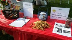 Dried beans on the HPC table at Westgate Summer Jam 2016.jpg