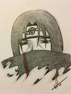 Uchiha Itachi by Naruto Sketch Drawing, Naruto Drawings, Anime Drawings Sketches, Cool Art Drawings, Anime Sketch, Sasuke Drawing, Wallpaper Naruto Shippuden, Naruto Wallpaper, Naruto Shippuden Anime