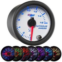 GlowShift White 7 Color 30 PSI Fuel Pressure Gauge Kit - Includes Electronic Sensor - White Dial - Clear Lens - For Diesel Trucks - ** Learn more by visiting the image link. (This is an affiliate link) Fuel Pressure Gauge, Oil Pressure, Gauges Size Chart, Electrical Stores, Gauge Kit, Power Wire, Thing 1, Gauges Plugs, Diesel Trucks